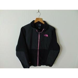 North Face L 14-16 Denali Fleece Jacket Pink Black